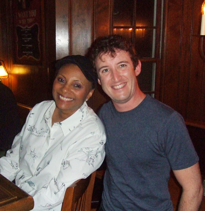Andrew with Leslie Uggams at the Cape Playhouse during the run of The Rink, 2006.