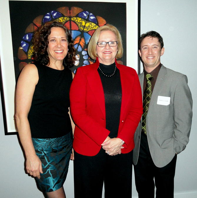 Andrew with Karen Ziemba and Senator Claire McCaskill