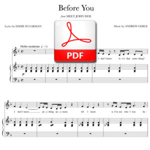 Before You - PDF - music by Andrew Gerle, lyrics by Eddie Sugarman