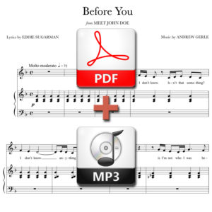 Before You - PDF + MP3 - music by Andrew Gerle, lyrics by Eddie Sugarman