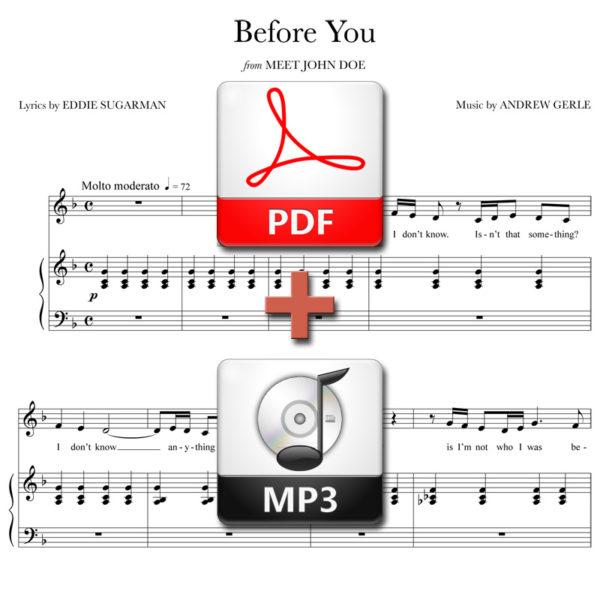 Before You - PDF + MP3 - music by Andrew Gerle, lyrics by Eddie Sugarman