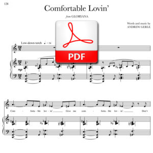 Comfortable Lovin - PDF - words and music by Andrew Gerle