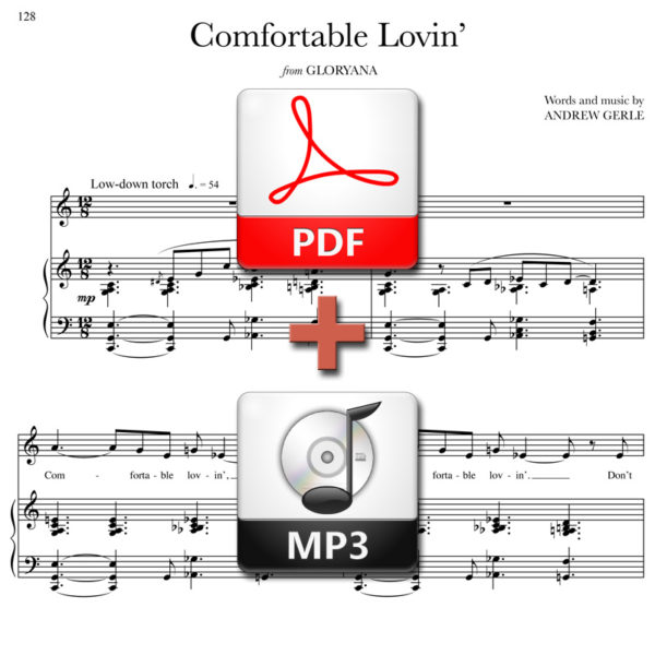 Comfortable Lovin - PDF + MP3 - words and music by Andrew Gerle