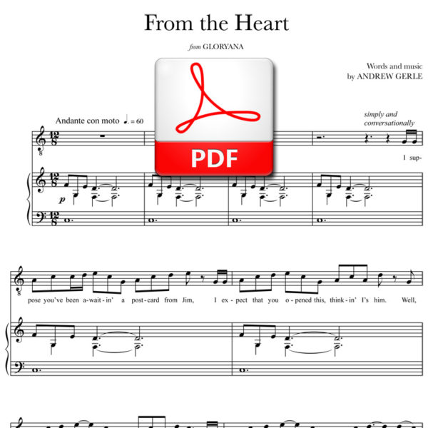 From the Heart - PDF - words and music by Andrew Gerle