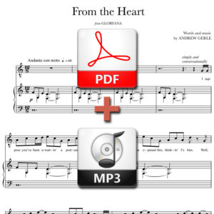 From the Heart - PDF + MP3 - words and music by Andrew Gerlefrom-the-heart-pdf-mp3
