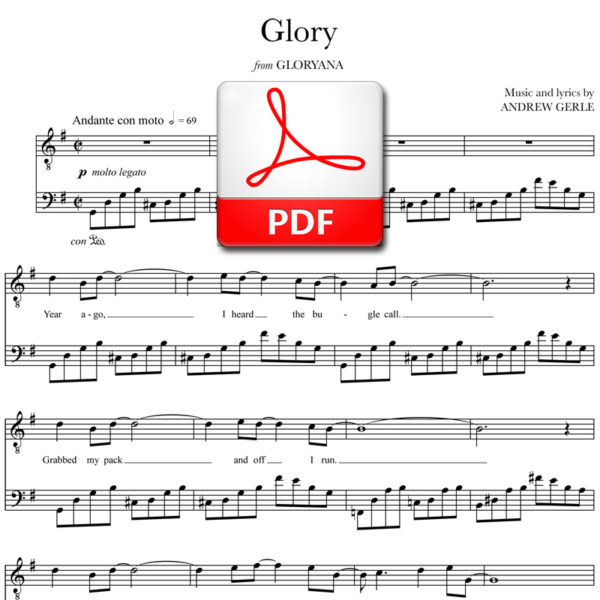 Glory - PDF - words and music by Andrew Gerle