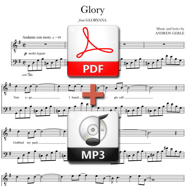 Glory - PDF + MP3 - words and music by Andrew Gerle