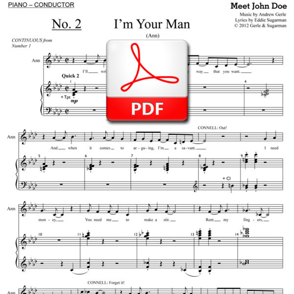 I'm Your Man - PDF - music by Andrew Gerle, lyrics by Eddie Sugarman