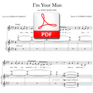 I'm Your Man (stand alone version) - PDF - music by Andrew Gerle, lyrics by Eddie Sugarman