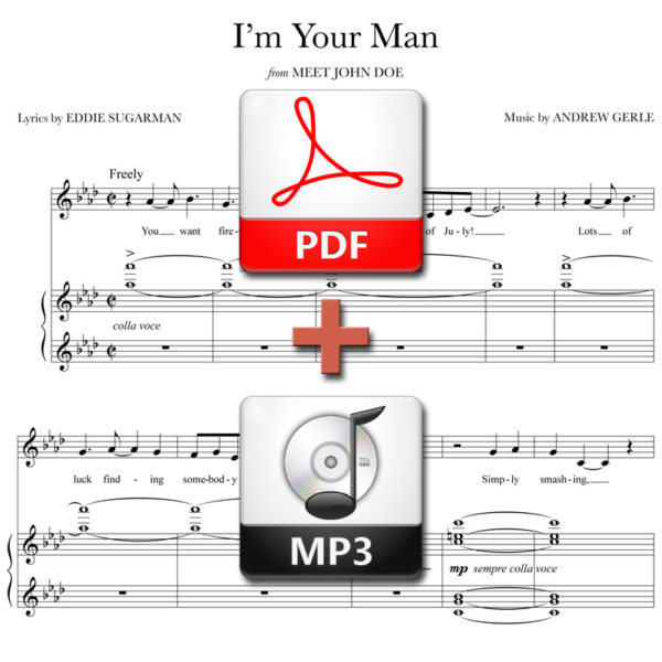 I'm Your Man (stand alone version) - PDF + MP3 - music by Andrew Gerle, lyrics by Eddie Sugarman