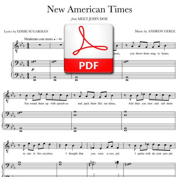 New American Times - PDF - music by Andrew Gerle, lyrics by Eddie Sugarman
