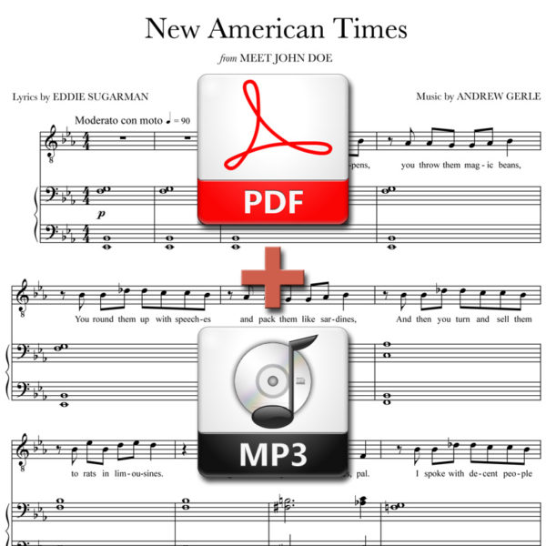 New American Times - PDF + MP3 - music by Andrew Gerle, lyrics by Eddie Sugarman