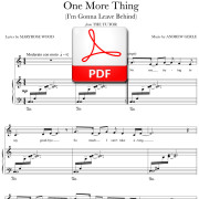 One More Thing - PDF - music by Andrew Gerle, lyrics by Maryrose Wood