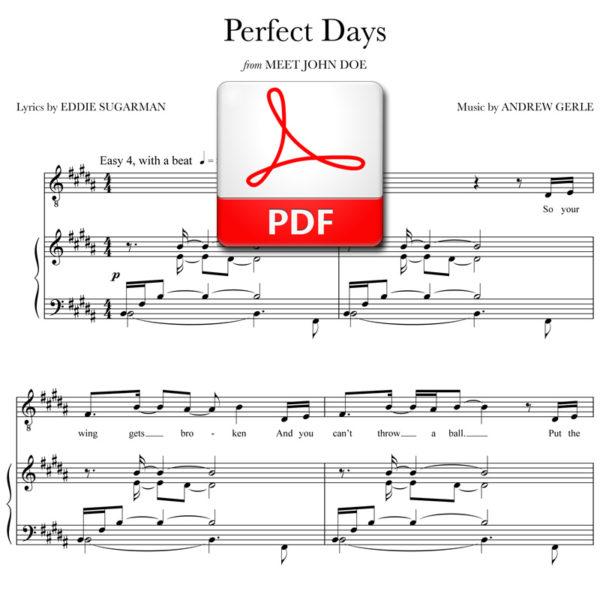 Perfect Days - PDF - music by Andrew Gerle, lyrics by Eddie Sugarman
