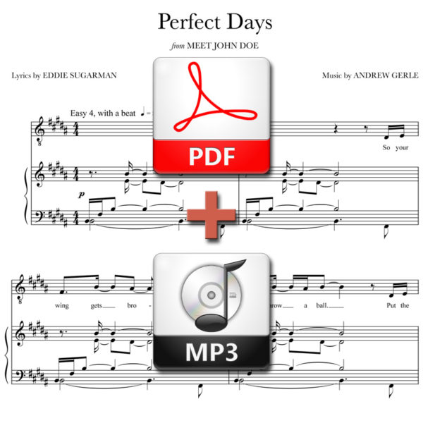 Perfect Days - PDF + MP3 - music by Andrew Gerle, lyrics by Eddie Sugarman