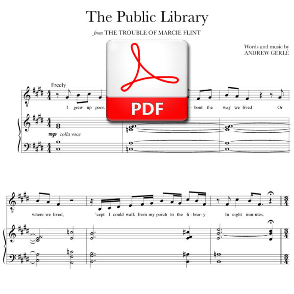 The Public Library - PDF - music and lyrics by Andrew Gerle