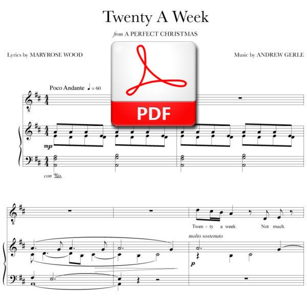Twenty A Week - PDF - music by Andrew Gerle, lyrics by Maryrose Wood