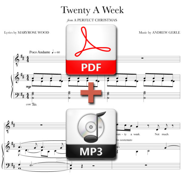 Twenty A Week - PDF + MP3 - music by Andrew Gerle, lyrics by Maryrose Wood