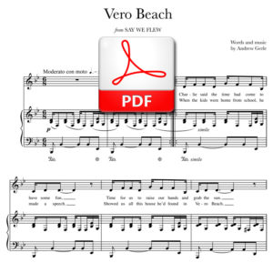 """Vero Beach"" - words and music by Andrew Gerle"