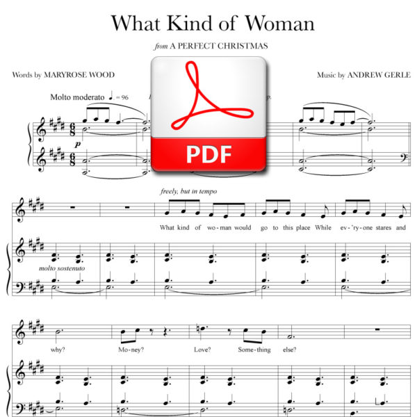 What Kind of Woman - PDF - music by Andrew Gerle, lyrics by Maryrose Wood