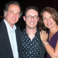 Andrew with Mark Linn-Baker and Christa Justus at Birdland premiere of Say We Flew